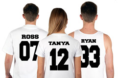 3M Team Shirts with Custom Names